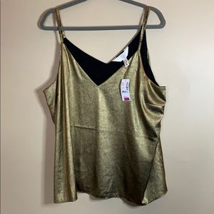 Addition Elle Gold Tank Top size 2X NWT